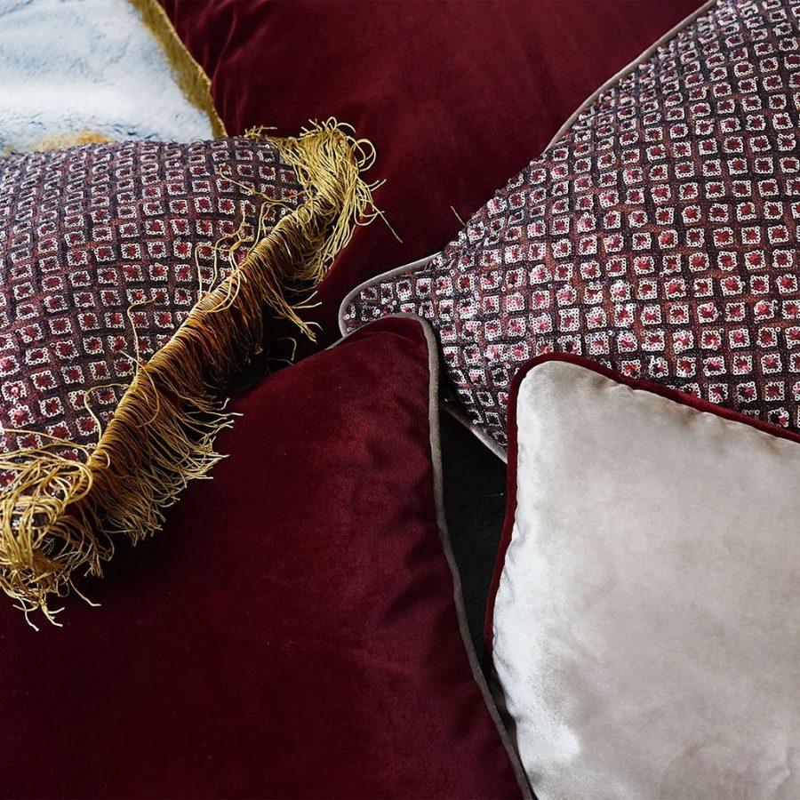 DEPLUSBELLE housses de coussins en velours en sequins pour habiller votre maison en esprit festif 40x40 cm et 60x60 cm!
